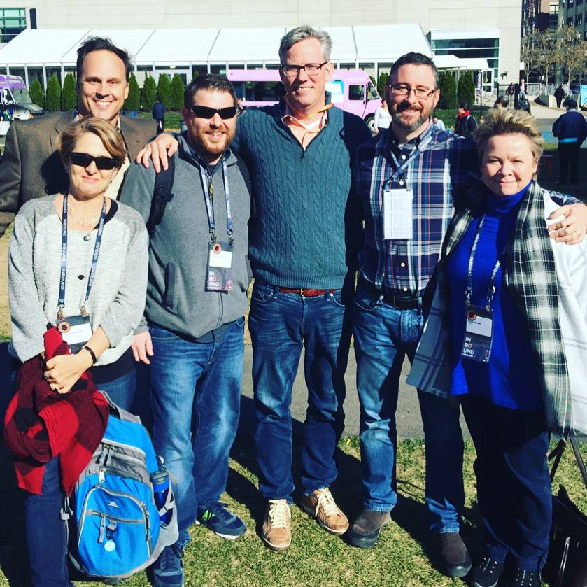 Members of the IQnection team meet Brian Halligan, CEO of HubSpot, at INBOUND '16.