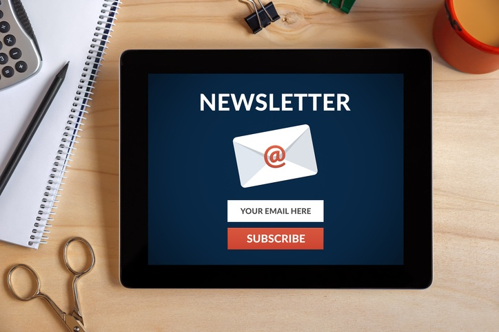 Newsletter emails are a digestible way to share your marketing content.