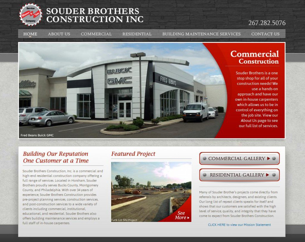 Recently launched web design Horsham, Montgomery County PA: Souder Brothers Construction