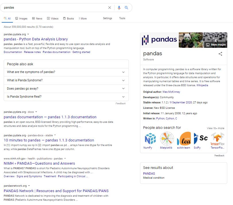 """Search results for """"pandas"""""""