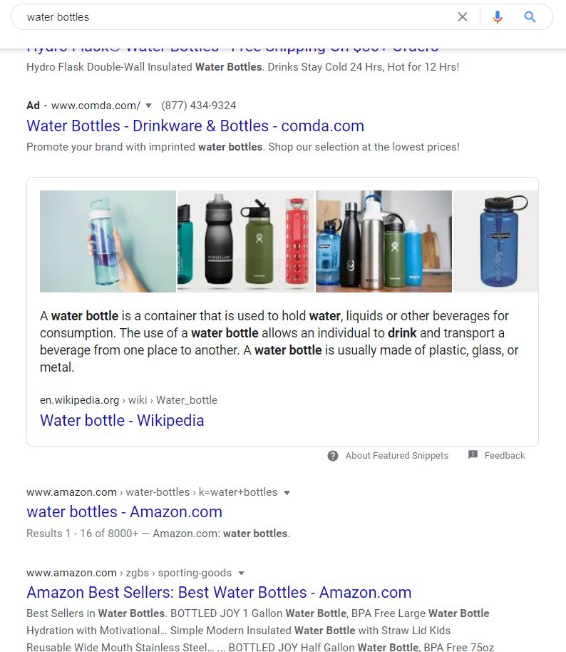 "Organic search results show below ""ads"" in Google"